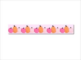 Washi tape roze pompoen herfst