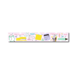 Washi tape pastel stationery