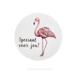 Sluitersticker rond | flamingo voor jou