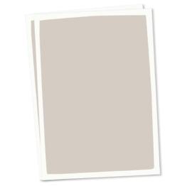 DIY blanco kaart taupe witte rand A6