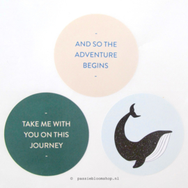 Sluitsticker Walvis/ journey SET