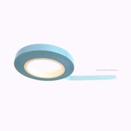 Dun washi tape egaal pastel blauw