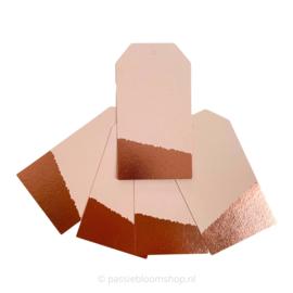 Blanco label roze met rosé folie randje (5 stuks)