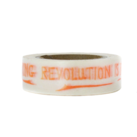 Washi tape | Tekst: Revolution is rocking