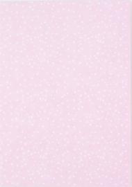 DIY zelf een kaart maken, Roze stippen A6 DIK
