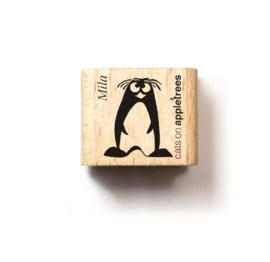 Mini stempel kuif pinguïn