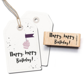 Tekst stempel Happy happy birthday