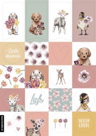 Stickers voorjaar, bloemen en dieren (20stuks)