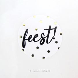 Sluitsticker rond Feest!