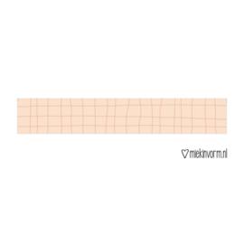 Grid washi tape zalm roze