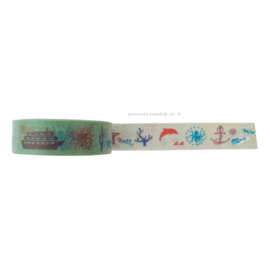 Washi tape zee thema mint groen