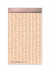 Cadeauzakjes Naturel nude roze patroon
