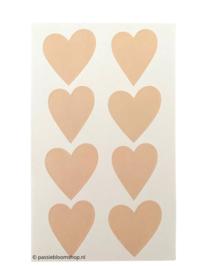 Stickers oud roze hartjes