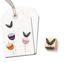Mini stempel vlindertje