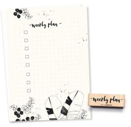 Tekst stempel weekly plan | Bullet journal
