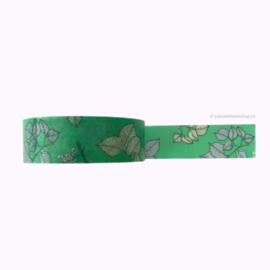 Washi tape groen met bladeren
