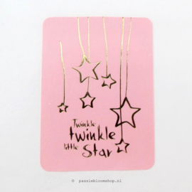Sluitsticker Twinkle Twinkle little star Roze