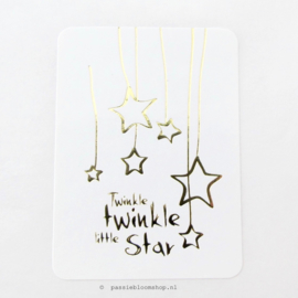 Sluitsticker Twinkle Twinkle little star Wit