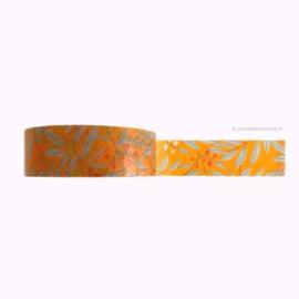 Washi tape oranje herfst bladeren
