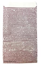 Cadeauzakjes lila stippen 12x19