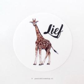 Sluitstickers rond giraffe Lief