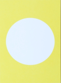 DIY postkaart maken, geel