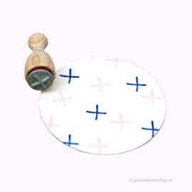 Mini stempel S | Plusje /  kruisje