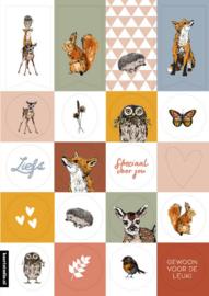 Stickers bosdieren (20stuks)