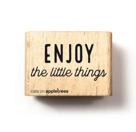 Tekst stempel enjoy the little things
