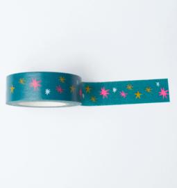Washi tape | Neon sterren nacht
