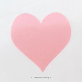 Sticker Roze hartje