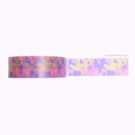 Washi tape camouflage roze paars