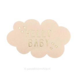 Sluitsticker wolkje baby beige