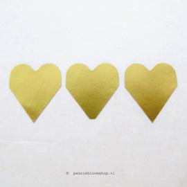 Sticker goud hartje Klein