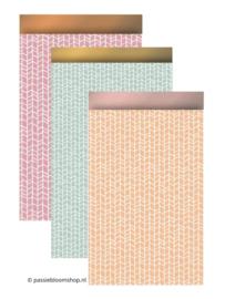 Mix pastel patroon cadeauzakjes (10 stuks)