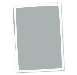 DIY blanco kaart donkerblauw witte rand A6