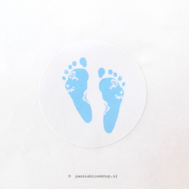 Sluitsticker rond voetjes Blauw