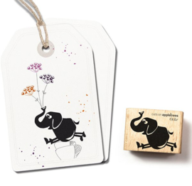 Stempel springende olifant