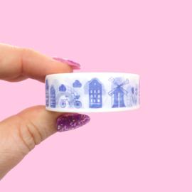 Washi tape Nederlands thema Delfts blauw
