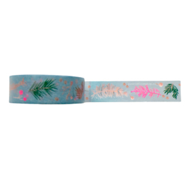 Washi tape takjes blauw / roze