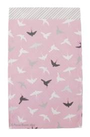 Cadeauzakjes roze vogels 12x19