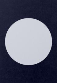 DIY zelf een kaart maken, cirkel donkerblauw A6