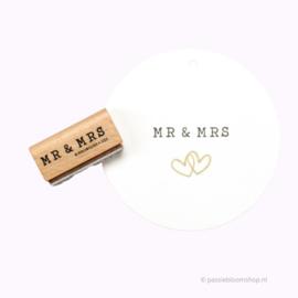 Mr & Mrs tekst stempel