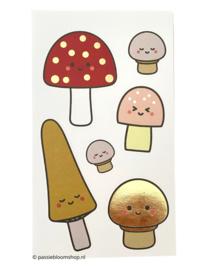 Stickers paddenstoelen groot