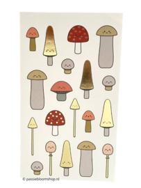 Stickers paddenstoelen klein