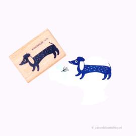 Stempel teckel hond