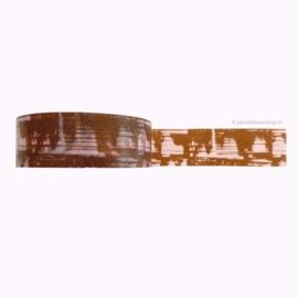 Washi tape print bruin/Lila