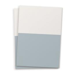 Blanco A6 postkaart twee kleuren blauw