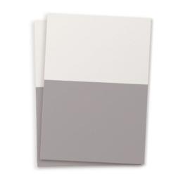 DIY blanco kaart twee kleuren grijs A6