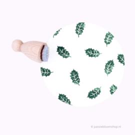 Mini stempel hulst blaadje